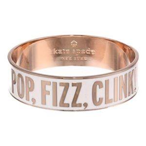 """Kate Spade """"Pop, Fizz, Clink"""" Cuff Idiom Bracelet"""